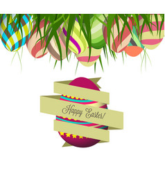 spring easter background with egg vector image
