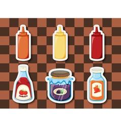 Sticker series breakfast spreads vector