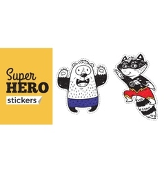 Super Hero stickers vector image