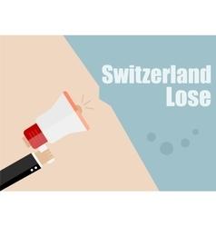Switzerland lose Flat design business vector image