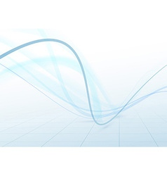 Transparent swoosh blue waves perspective vector