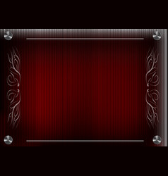 white lace lines on a red background vector image