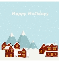 wonderful winter morning christmas vector image