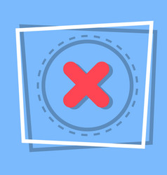X icon cross decline button interface concept vector