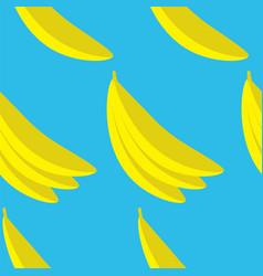 yellow bananas seamless pattern vector image
