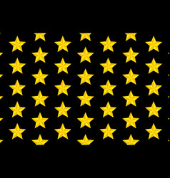 yellow five-pointed star - pattern vector image