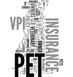 Your pets a vip with vpi text word cloud concept vector