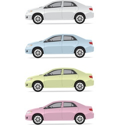 City cars vector image vector image
