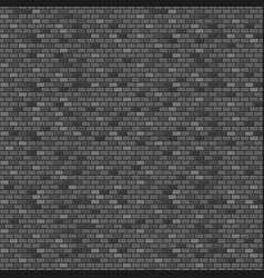 dark brick wall seamless pattern vector image vector image