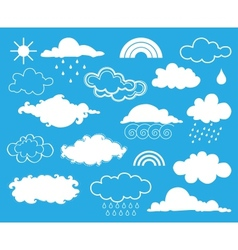 Elements of weather set vector image