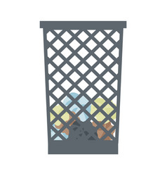 office paper in the trash can object recycle vector image
