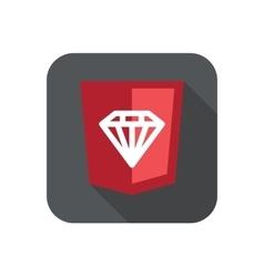 ruby programming language web vector image vector image