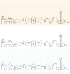 san antonio hand drawn skyline vector image