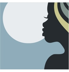 African night beauty vector image vector image