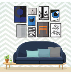 art for living room vector image