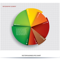 business pie chart paper info graphics vector image vector image