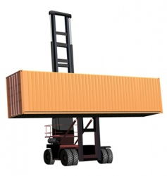 container lift vector image vector image
