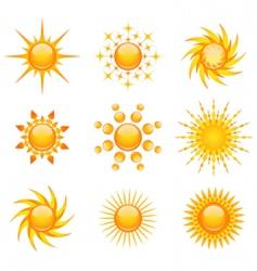 sun illustration vector image vector image