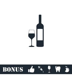 Wine icon flat vector image