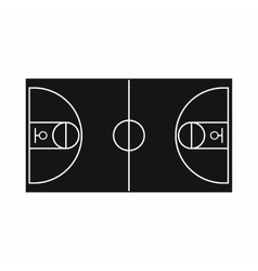 Basketball field icon simple style vector image