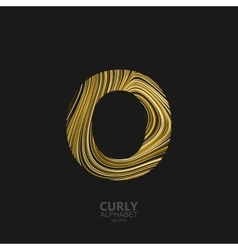 Curly textured Letter O vector image