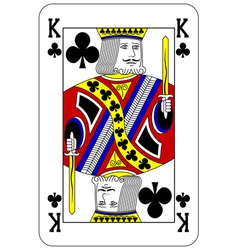 Poker playing card King club vector image vector image
