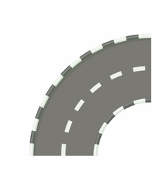 Road bend icon in cartoon style vector image