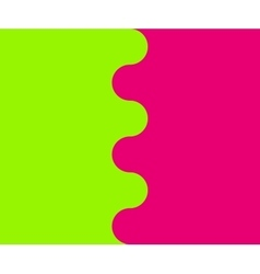 Wavy border between two colors vector image vector image