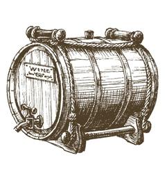 barrel of wine logo design template beer vector image vector image