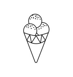 ice cream cone line icon sign vector image