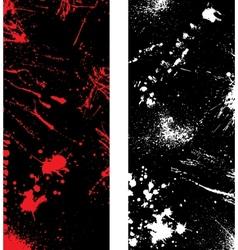 Ink blots banners vector image vector image