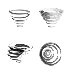 Logo cleaning whirlwind vector image vector image