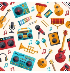 modern flat design musical instruments and music vector image