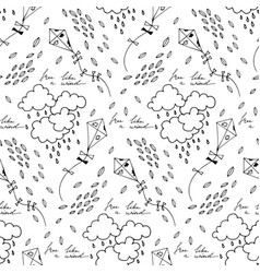 seamless pattern with flying kites in a vector image vector image