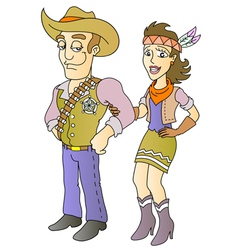 Sheriff and beauty vector image