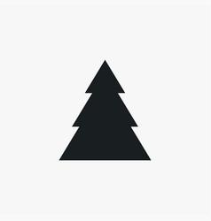 Xmas tree icon simple winter sign vector