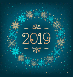 2019 text christmas card happy new year holiday vector