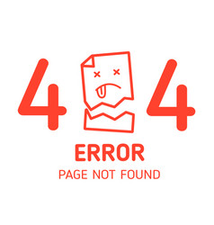 404 error page not found miss paper with white vector image