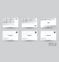 abstract line gray color background namecard vector image