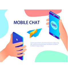 abstract messaging using mobile communications vector image