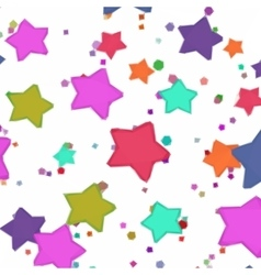 Abstract Pattern Colorful Stars vector image