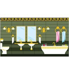 Bathroom in the Greek style vector image