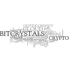 bitcrystals word cloud concept vector image