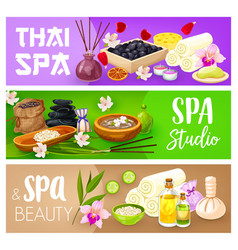 body care spa treatment banners beauty salon vector image