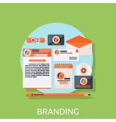 Branding Icons Concept vector image