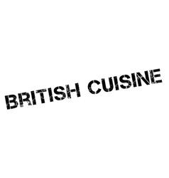British Cuisine rubber stamp vector