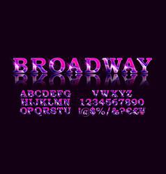 broadway style retro light bulb font vector image