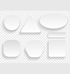buttons 3d white isolated set vector image