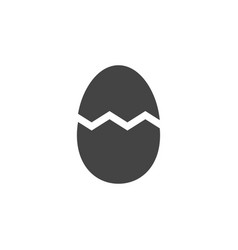 cracked egg icon graphic design template vector image