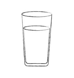 Cup glass beverage icon vector